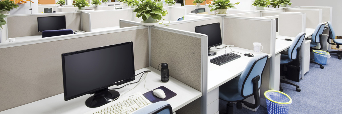 Commercial Office Cubicle Cleaning by Cleaner Living